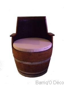 fauteuil tonneau barrique cr ation. Black Bedroom Furniture Sets. Home Design Ideas