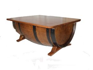 TABLE BASSE DEMI TONNEAU