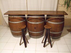 comptoir en ch ne 3 demie barriques. Black Bedroom Furniture Sets. Home Design Ideas