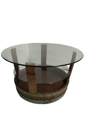 TABLE BASSE PLATEAU VERRE
