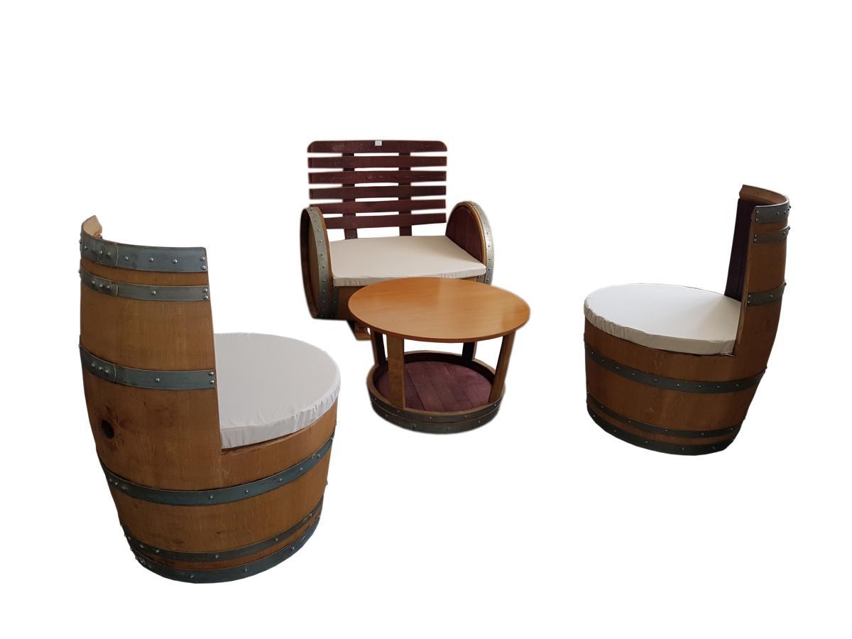 Salon barrique en chêne massif - meuble barrique