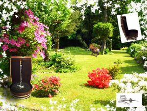 tonneau de d coration de jardin barrique cr ation. Black Bedroom Furniture Sets. Home Design Ideas
