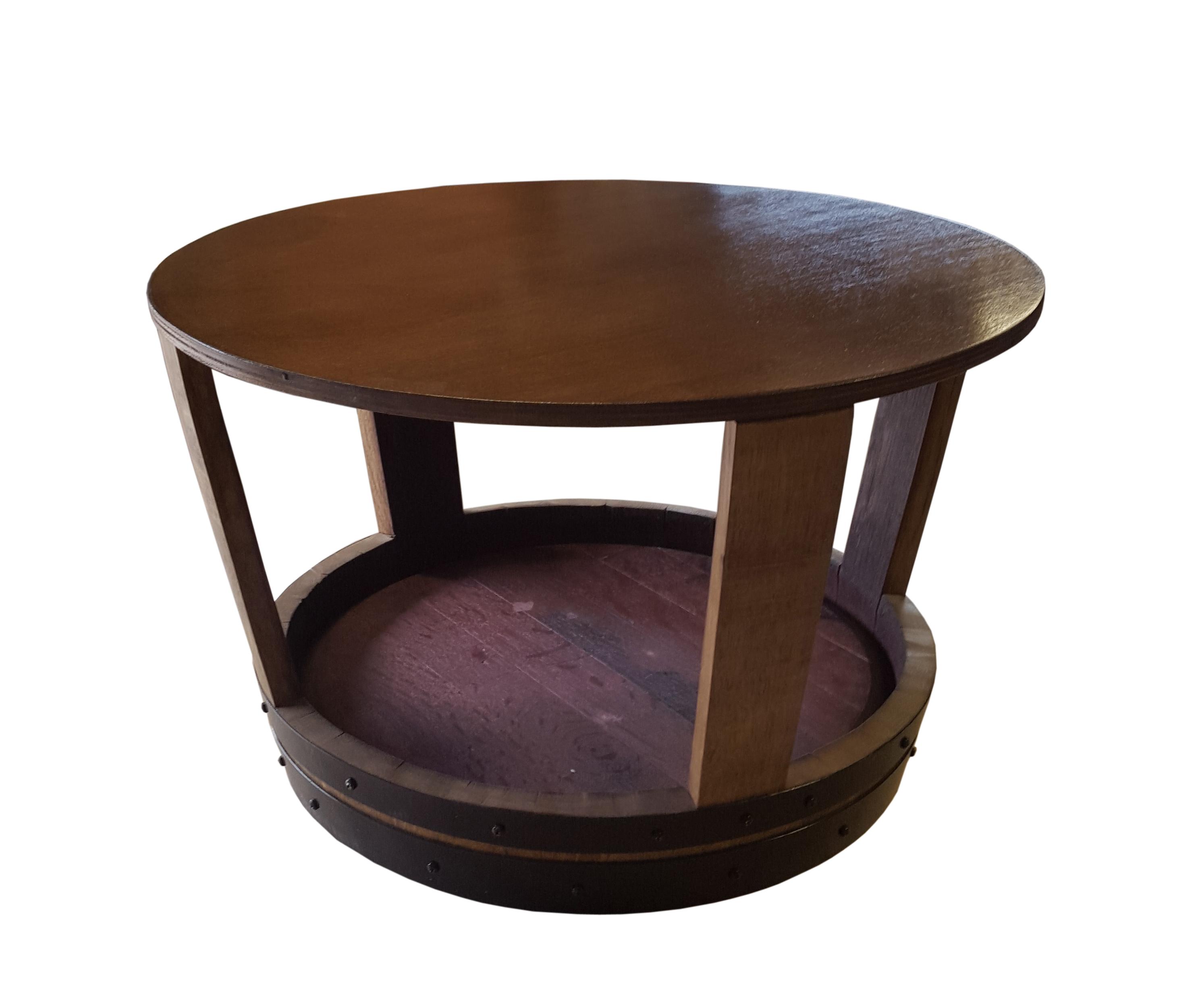 Table Basse Chene Massif Barrique Creation