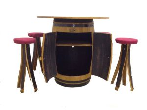 Table barrique en bois